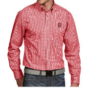 Antigua Men's NC State Wolfpack Red Associate Button Down Long Sleeve Shirt