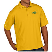 Antigua Men's North Dakota State Bison Yellow Pique Xtra-Lite Polo