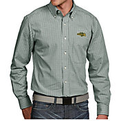 Antigua Men's North Dakota State Bison Green Associate Button Down Long Sleeve Shirt