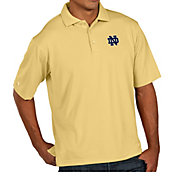 Antigua Men's Notre Dame Fighting Irish Gold Pique Xtra-Lite Polo