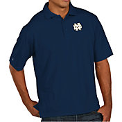 Antigua Men's Notre Dame Fighting Irish Navy Pique Xtra-Lite Polo