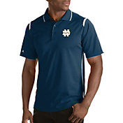 Antigua Men's Notre Dame Fighting Irish Merit Xtra-Lite White Polo