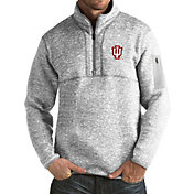 Antigua Men's Indiana Hoosiers Grey Fortune Pullover Jacket