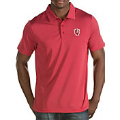 Antigua Men's Indiana Hoosiers Crimson Quest Polo