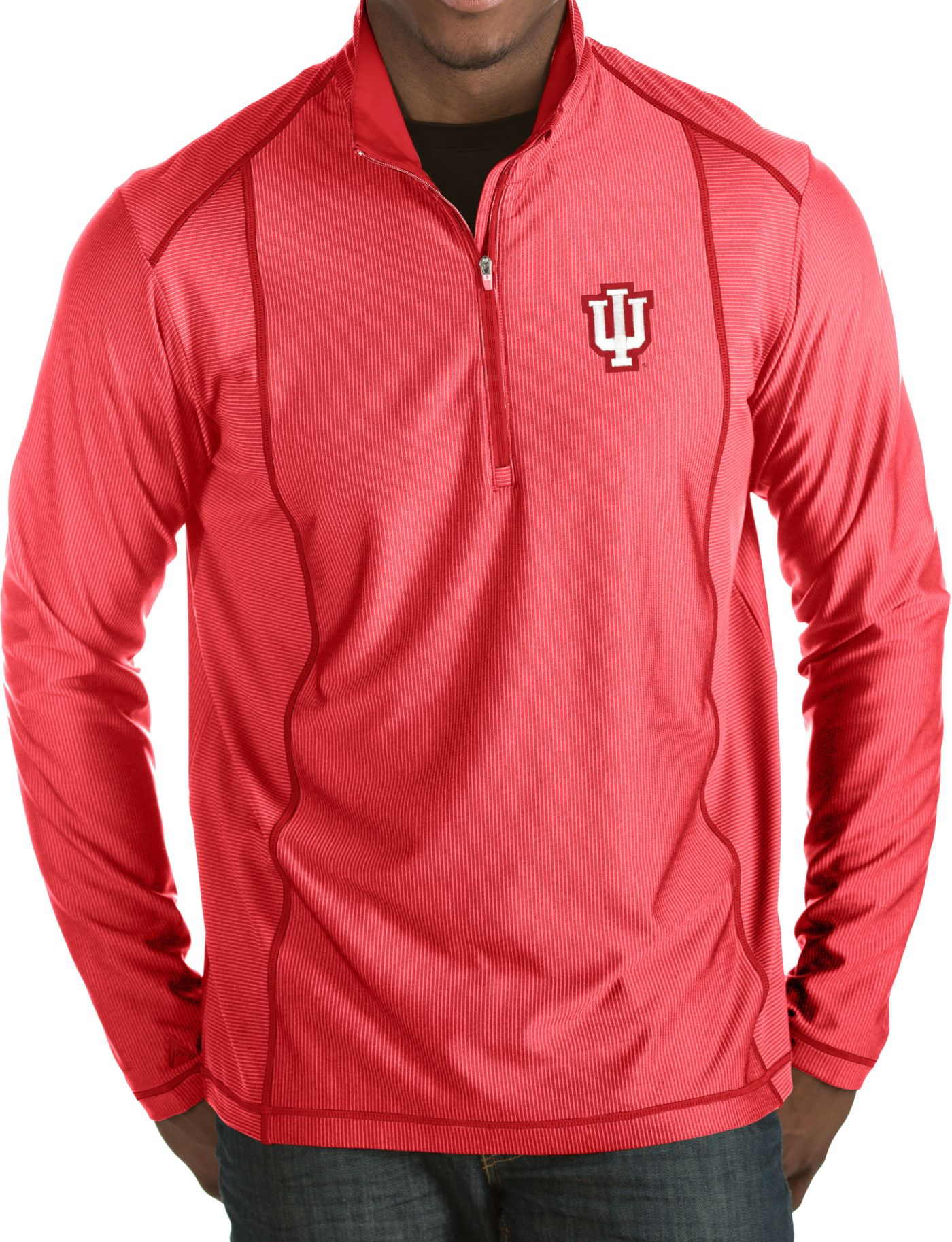 Antigua Men's Indiana Hoosiers Crimson Tempo Half-Zip Pullover