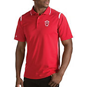 Antigua Men's Indiana Hoosiers Merit Xtra-Lite White Polo