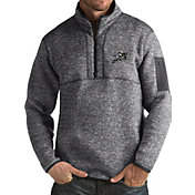 Antigua Men's Navy Midshipmen Grey Fortune Pullover Jacket