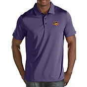 Antigua Men's Northern Iowa Panthers  Purple/White Quest Polo