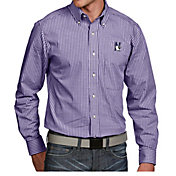 Antigua Men's Northwestern Wildcats Purple Associate Button Down Long Sleeve Shirt