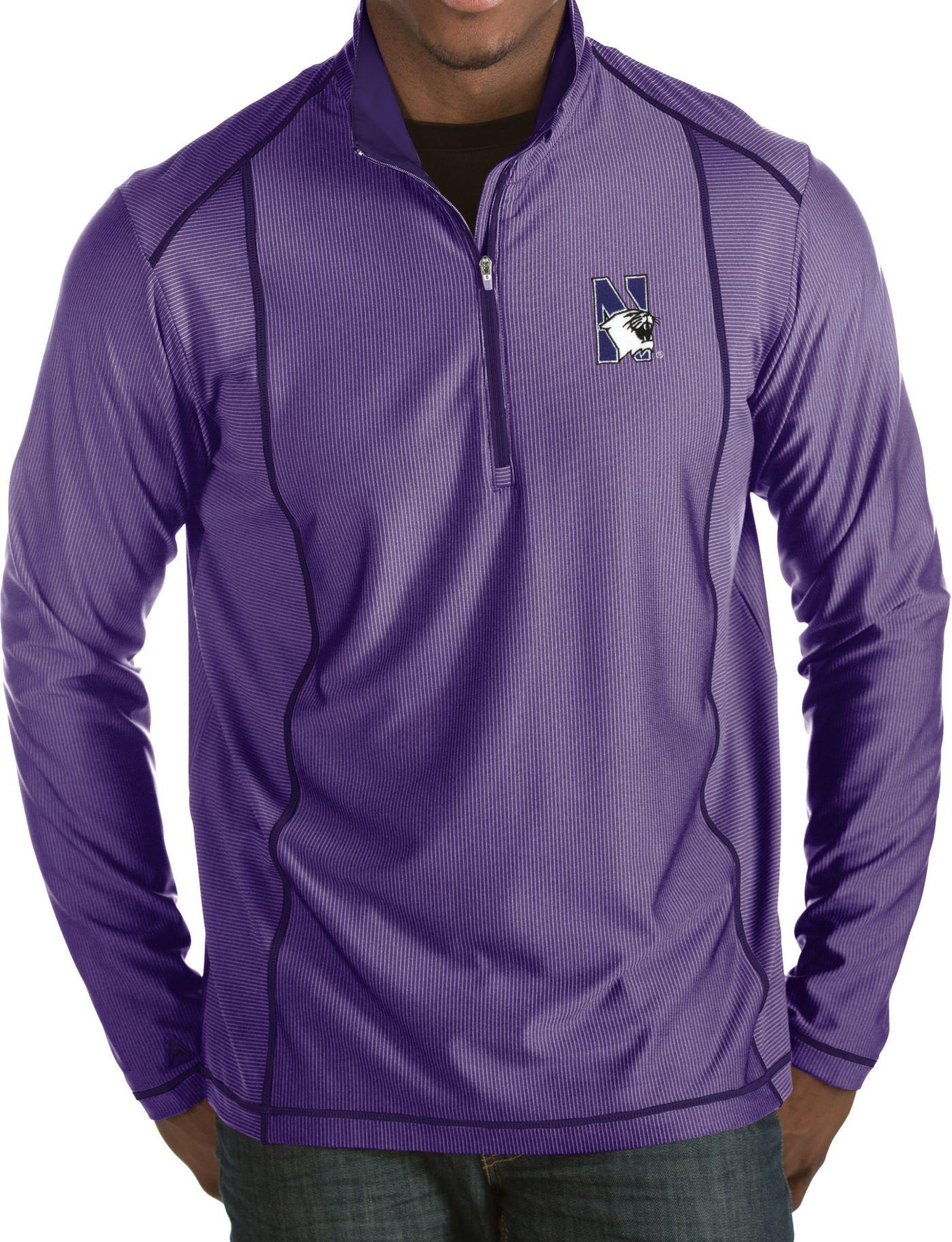Antigua Men's Northwestern Wildcats Purple Tempo Half-Zip Pullover