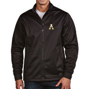 Antigua Men's Appalachian State Mountaineers Black Full-Zip Golf Jacket