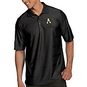 Antigua Men's Appalachian State Mountaineers Black Illusion Polo