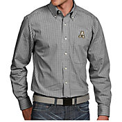 Antigua Men's Appalachian State Mountaineers Black Associate Button Down Long Sleeve Shirt