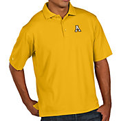 Antigua Men's Appalachian State Mountaineers Gold Pique Xtra-Lite Polo