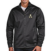 Antigua Men's Appalachian State Mountaineers Grey Full-Zip Golf Jacket