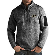 Antigua Men's Purdue Boilermakers Black Fortune Pullover Jacket