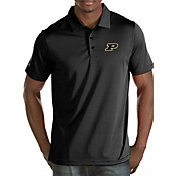 Antigua Men's Purdue Boilermakers Black/White Quest Polo