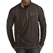 Antigua Men's Purdue Boilermakers Black Tempo Half-Zip Pullover