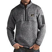 Antigua Men's Purdue Boilermakers Grey Fortune Pullover Jacket