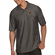 Antigua Men's Purdue Boilermakers Grey Illusion Polo
