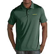Antigua Men's Oregon Ducks Green Quest Polo