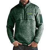 Antigua Men's Oregon Ducks Grey Fortune Pullover Jacket