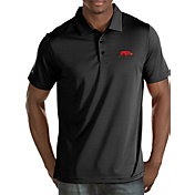 Antigua Men's Arkansas Razorbacks Black Quest Polo