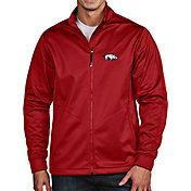 Antigua Men's Arkansas Razorbacks Cardinal Full-Zip Golf Jacket