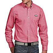 Antigua Men's Arkansas Razorbacks Cardinal Associate Button Down Long Sleeve Shirt