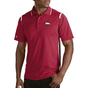 Antigua Men's Arkansas Razorbacks Merit Xtra-Lite White Polo