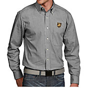 Antigua Men's Army West Point Black Knights Black Associate Button Down Long Sleeve Shirt