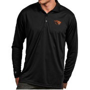 Antigua Men's Oregon State Beavers Black Exceed Long Sleeve Polo
