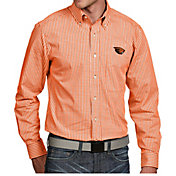 Antigua Men's Oregon State Beavers Orange Associate Button Down Long Sleeve Shirt