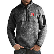 Antigua Men's Rutgers Scarlet Knights Black Fortune Pullover Jacket
