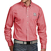 Antigua Men's Rutgers Scarlet Knights Scarlet Associate Button Down Long Sleeve Shirt