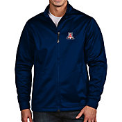 Antigua Men's Arizona Wildcats Navy Full-Zip Golf Jacket
