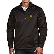 Antigua Men's Arizona State Sun Devils Black Full-Zip Golf Jacket
