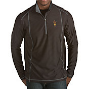 Antigua Men's Arizona State Sun Devils Black Tempo Half-Zip Pullover