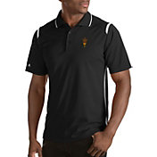 Antigua Men's Arizona State Sun Devils Merit Xtra-Lite White Polo
