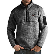 Antigua Men's South Carolina Gamecocks Black Fortune Pullover Jacket