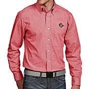 Antigua Men's San Diego State Aztecs Scarlet Associate Button Down Long Sleeve Shirt