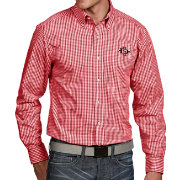 Antigua Men's San Diego State Aztecs Scarlet Associate Button Down Long Sleeve Shirt