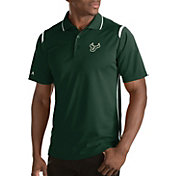 Antigua Men's South Florida Bulls Merit Xtra-Lite White Polo