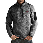 Antigua Men's Southern Illinois  Salukis Black Fortune Pullover Jacket