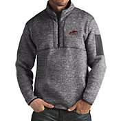Antigua Men's Southern Illinois  Salukis Grey Fortune Pullover Jacket