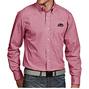 Antigua Men's Southern Illinois  Salukis Maroon Associate Button Down Long Sleeve Shirt