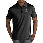 Antigua Men's Stanford Cardinal Black Quest Polo