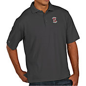 Antigua Men's Stanford Cardinal Grey Pique Xtra-Lite Polo