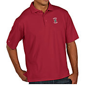 Antigua Men's Stanford Cardinal Cardinal Pique Xtra-Lite Polo