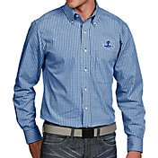 Antigua Men's Seton Hall Seton Hall Pirates Blue Associate Button Down Long Sleeve Shirt